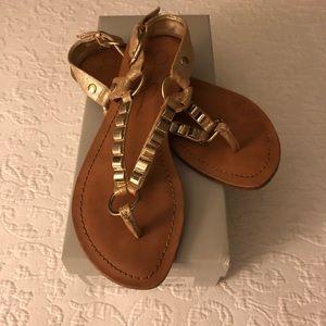 Jessica Simpson Gold Metallic Sandals